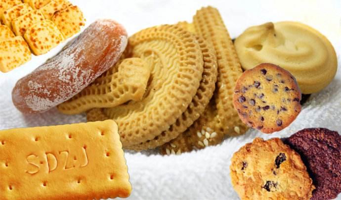 饼干的分类和水分含量,饼干分类加工流程,原料辅料检